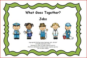 Interactive Book: What Goes Together? Jobs