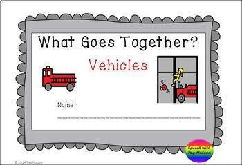 Interactive Book: What Goes Together? Vehicles