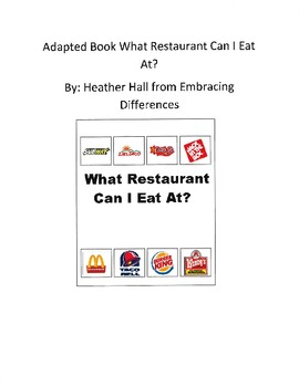 Adapted Book: What Restaurant Can I Eat At?