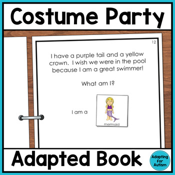 Halloween Adapted Book: Costume Party (Autism & Special Ed