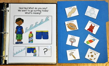 "Adapted Book--""What's Missing? Recreation Routines Edition"""