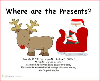 Interactive Book: Where are the Presents? A Christmas Search