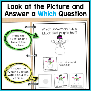 Winter Adapted Book for Special Education and Autism: Which Snowman