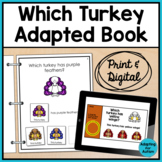 Thanksgiving Adapted Book for Special Education and Autism: Which Turkey