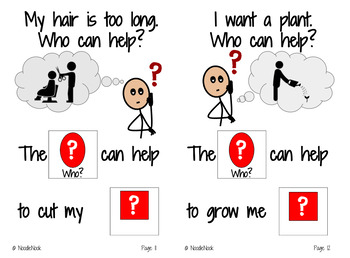Adapted Book: Who Can Help? Inferential Comprehension Questions