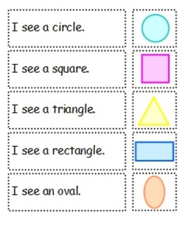 Adapted Book and Comprehension File Folder Shapes