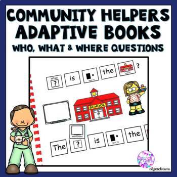 Community Helpers Adapted Book for Special Education