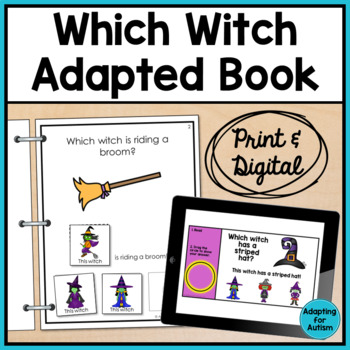 Halloween Adapted Book: Which Witch? (Autism & Special Education)