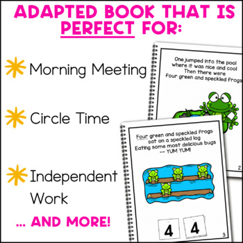 Five Green and Speckled Frogs: Adapted Book for Special Education