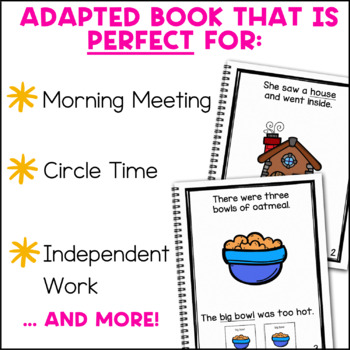 Goldilocks and the Three Bears: Adapted Book for Special Education