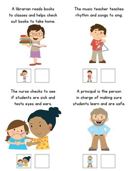People You Meet In A School: Adapted Book for Early Childhood Special Education
