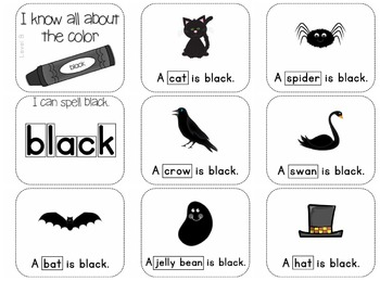 Adapted Book for the Color Black (3 Differentiated Levels)