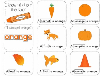 Adapted Book for the Color Orange (3 Differentiated Levels)