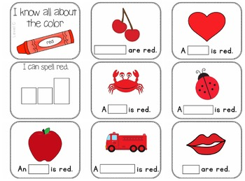 Adapted Book for the Color Red (3 Differentiated Levels)