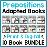 Prepositions Adapted Books BUNDLE for Special Education and Autism