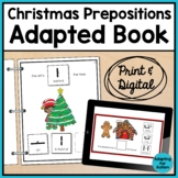 Christmas Adapted Book of Prepositions for Special Education and Autism