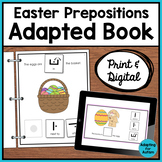 Easter Adapted Book of Prepositions - Special Education and Autism Resource