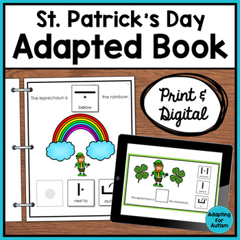 Adapted Book of Prepositions: St. Patrick's Day (Autism &
