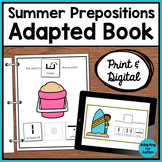 Summer Adapted Book of Prepositions (Autism & Special Ed)