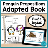 Winter Adapted Book of Prepositions for Special Education and Autism