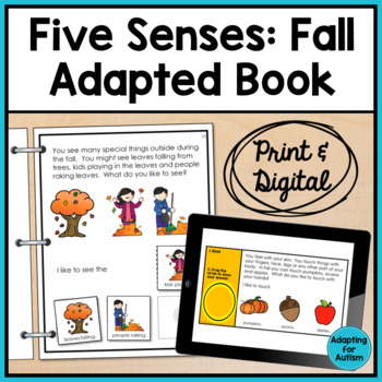 Fall Adapted Book for Special Education and Autism: The 5 Senses