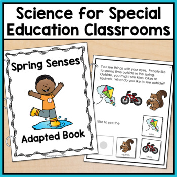 Spring Adapted Book for Special Education and Autism: The 5 Senses