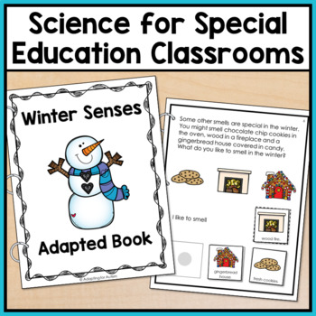 Winter Adapted Book for Special Education and Autism: The 5 Senses