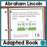 Abraham Lincoln Adapted Book for Special Education and Autism