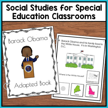 Barack Obama Adapted Book with Comprehension Questions for Special Education