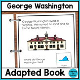George Washington Adapted Book for Special Education and Autism