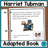 Harriet Tubman Adapted Book for Special Education and Autism
