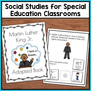 Marter Luther King Jr Adapted Book with Comprehension Check (Special Education)