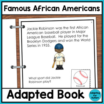 Adapted Book with Comprehension Check: Famous African Americans