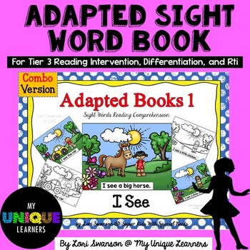 Adapted Sight Word Book: I See (combo)