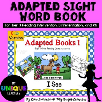 I SEE- Adapted Books 1 (Colored Version)