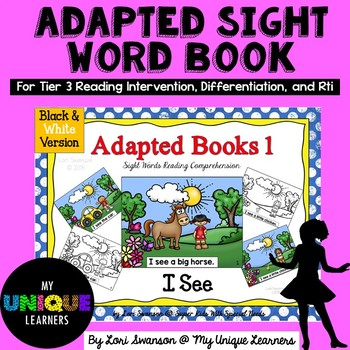 I SEE- Adapted Books (Black and White Version)