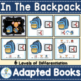 ADAPTED BOOKS- Back to School (PreK-2/Autism/SPED)