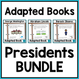 Presidents Day Adapted Books for Special Education and Aut