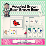 "Speech Therapy Adapted ""Brown Bear, Brown Bear"" Language and Articulation Packet"