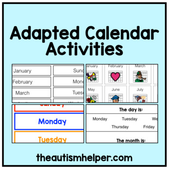 Special Education Adapted Calendar Activities