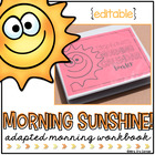Adapted Morning Work Notebook (for Special Needs)