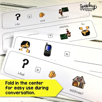 Adapted Cards Bundle : Conversation, Personal Information, and Reciprocity