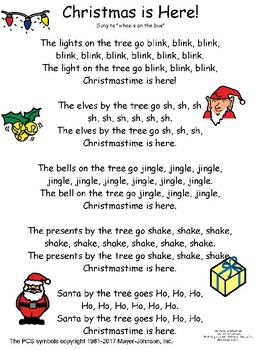Adapted Christmas Songs with manipulatives