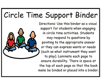 Adapted Circle Time Support Binder