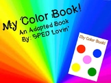 Adapted Color Book! Spelling or Matching Words to Pictures!