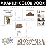 Brown: Adapted Colors Book