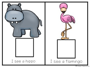 Adapted Comprehension Book: Let's Go to the Zoo!