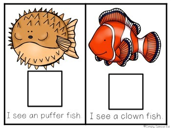 Adapted Comprehension Book: Ocean Creatures!