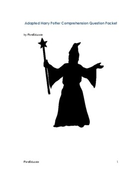 Adapted Comprehension Questions for Harry Potter and the S