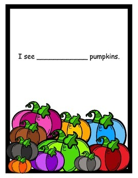 Adapted Counting Book Pumpkins